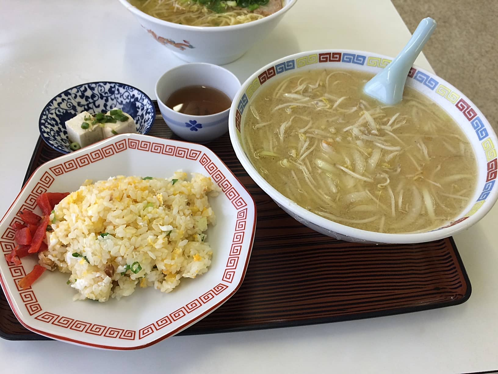 新幹線ラーメン 味噌・チャーハンセット